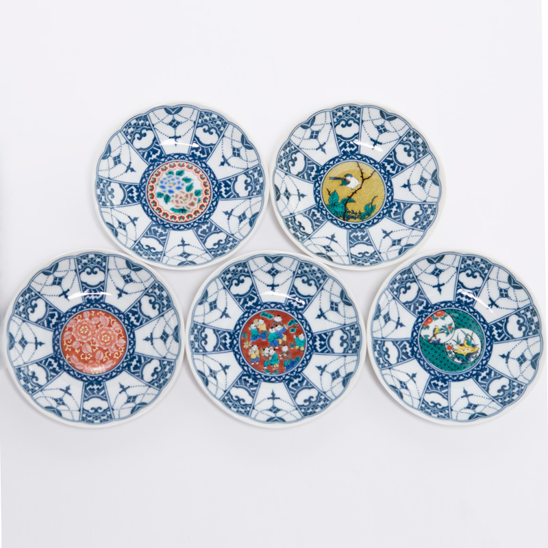 豪華絢爛な九谷焼取皿
