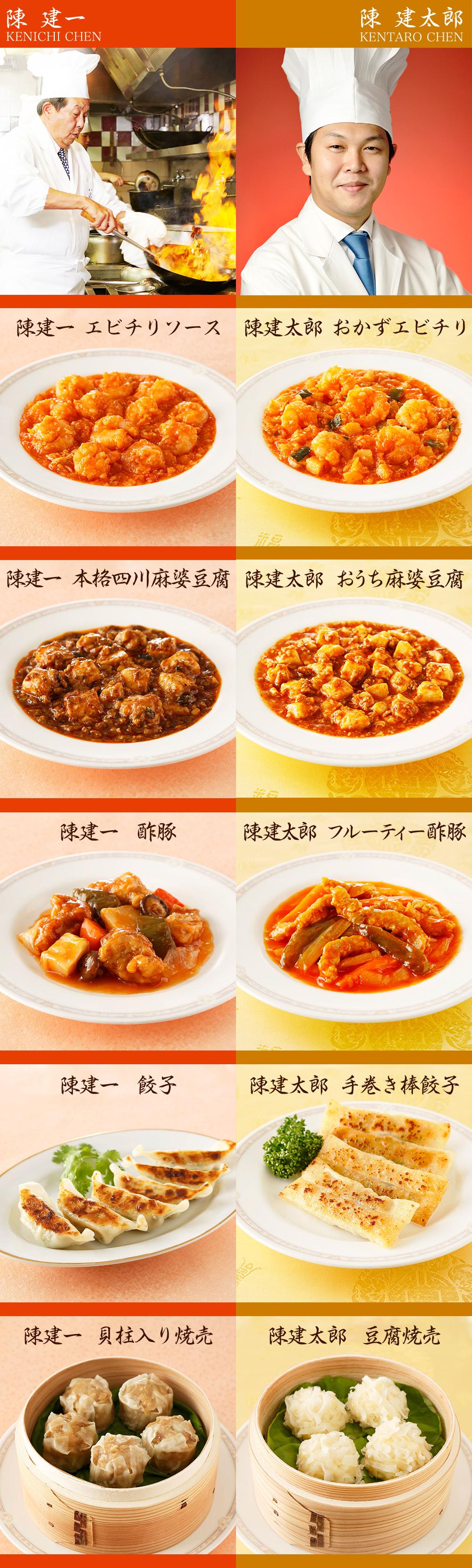 陳 建一・建太郎 両名が作る自慢の中華を食べ比べ