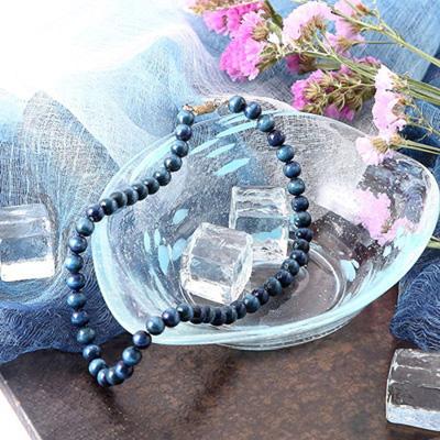 首元を鮮やかに彩る藍染めのネックレス 合同会社 青森県木工芸販売・青森県